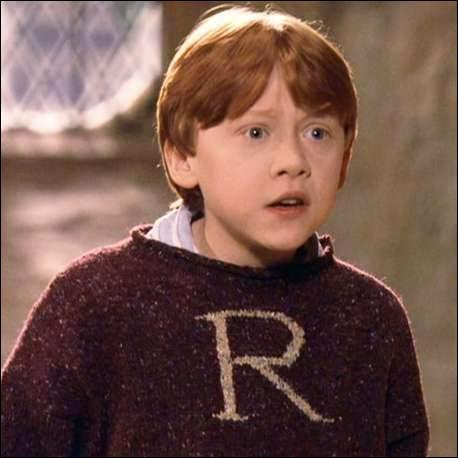 À Noël, Ron a-t-il déjà déballé son pull quand Harry se lève ?