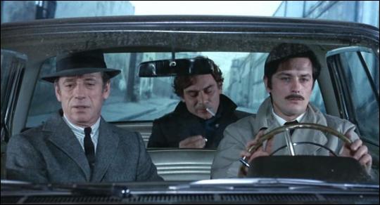 Ce film de Melville, réunissant Delon, Montand, Volonte, et Bourvil dont c'est le dernier film, c'est ...