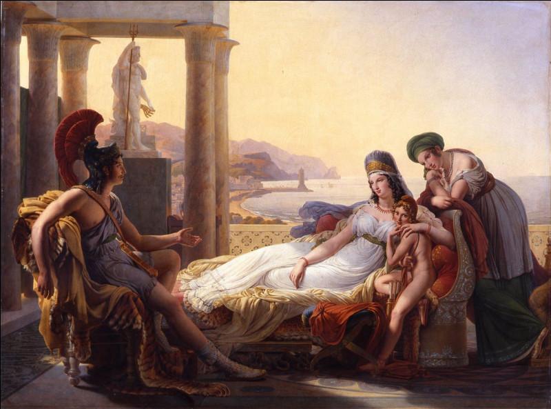 Dans l'Énéïde (poème épique de Virgile), lorsqu'Énée a quitté Carthage, Didon incapable de supporter cet abandon préfère se donner la mort...