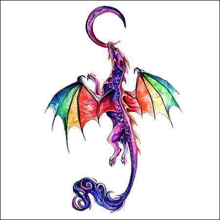 Par quelle couleur est représenté le dragon ?