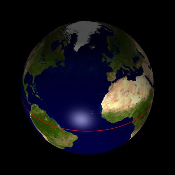 Comment appelle-t-on la ligne imaginaire qui sépare la Terre en 2 hémisphères ?