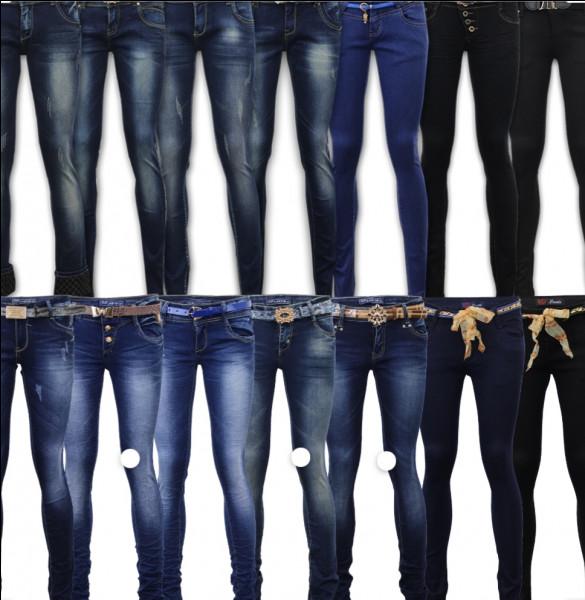 En quelle année a été créé le jeans, qui donna un coup de pouce à la couleur bleu?