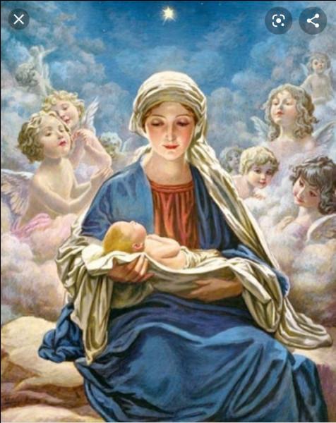 A partir du XIIème siècle, pourquoi rêvait-on de la Vierge Marie avec un manteau ou une robe bleue ?