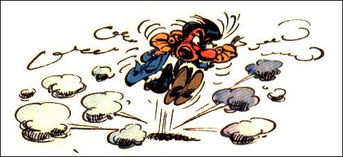 Revenons à l'univers de Gaston. Son supérieur [son nom ?] a aussi un mot bien à lui : lequel ?