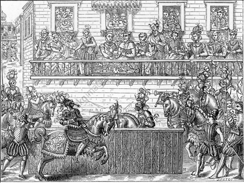 Lequel de ces rois de France meurt d'un éclat de lance dans l'œil à la suite d'une joute ?