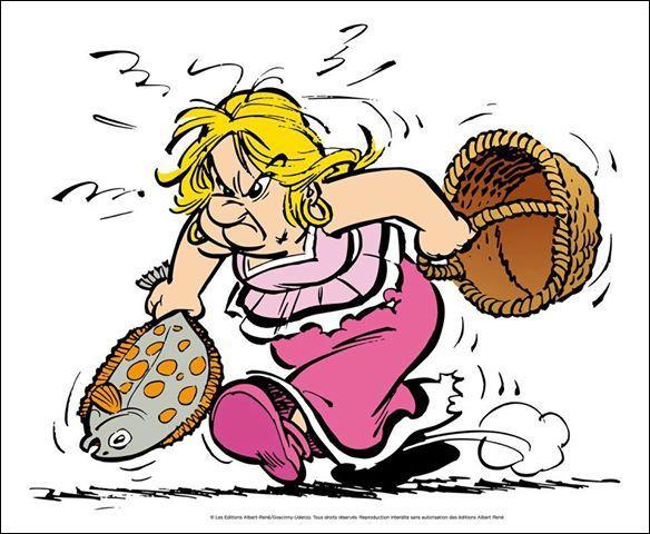 La femme du chef Abraracourcix, Bonemine - dont le frère, lui, [qui donc ?] a réussi à Lutèce - use d'un délicieux vocable pour désigner son mari : lequel ?