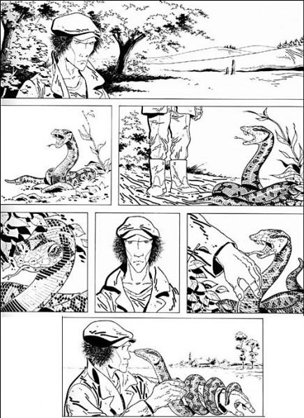 """Le mystérieux personnage de """"Silence"""", dont une réédition a été préfacée par l'écrivain ... avait fait connaître Didier Comès dès 1979. Quelles sont les mots de ce personnage ?"""