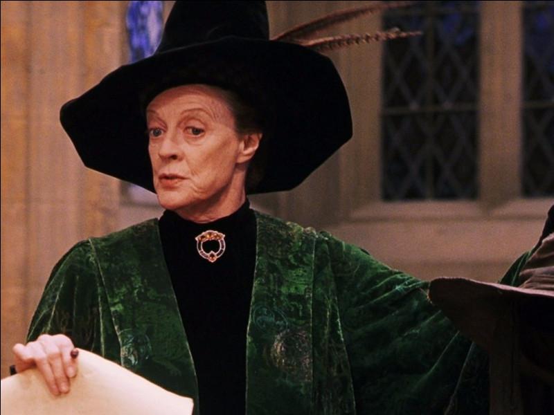 Quel est le prénom du professeur McGonagall ?