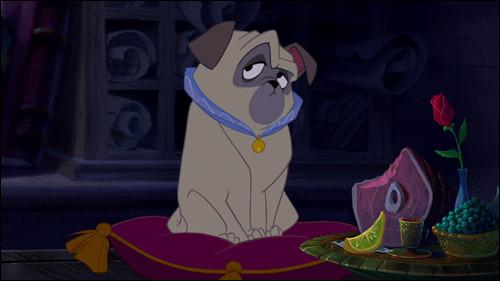 Comment s'appelle ce chien, qui vit dans le luxe et qui est dans le film ''Pocahontas'' ?