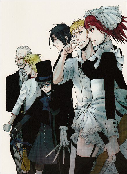 """À la fin de l'arc """"Book Of Murders"""", quel personnage intègre la maison Phantomhive et devient valet de pied ?"""