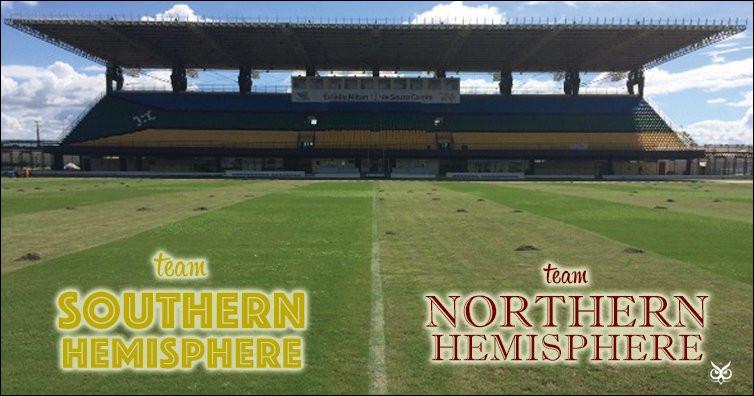Dans quel pays a-t-on construit un stade de football que l'équateur traverse en plein centre ?