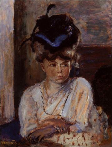 """Voici """"Le Chapeau au ruban bleu"""" de l'artiste :"""