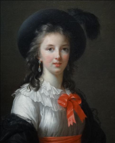 Qui a peint ce portrait au ruban cerise ?