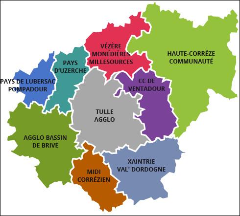 Combien y a-t-il d'arrondissements en Corrèze ?