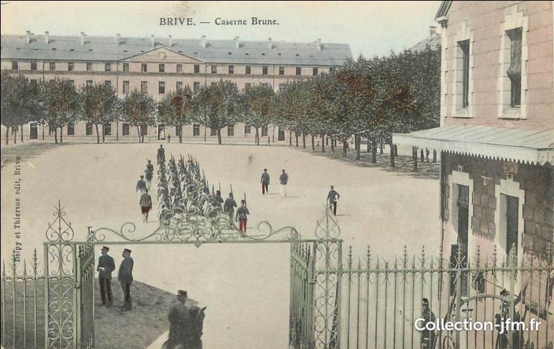 Brive abrite depuis 1907 un régiment d'infanterie, quel surnom porte ce régiment ?