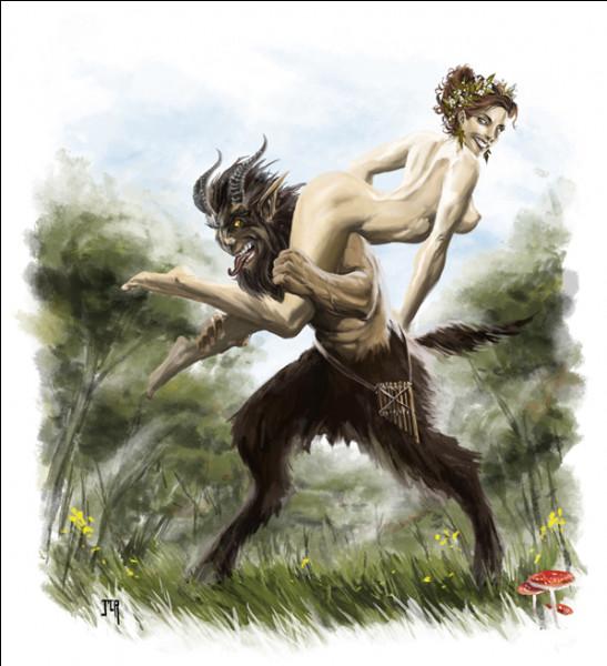 L'occupation favorite de cet être sauvage était de poursuivre les jolies nymphes. Qui est-il ?