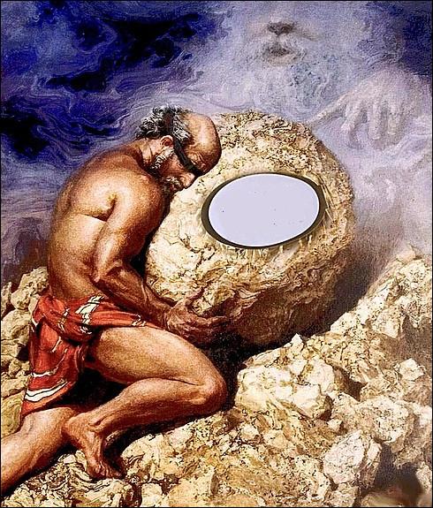Pour avoir révélé des secrets divins, ce roi de Corinthe fut sévèrement condamné à pousser un rocher jusqu'au sommet d'une montagne éternellement. Qui est-il ?