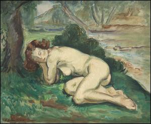 """Il a intitulé son tableau """"Femme endormie au bord d'un ruisseau"""". Qui est cet artiste ?"""