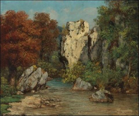 """Qui a peint """"Paysage au ruisseau et au rocher"""" ?"""