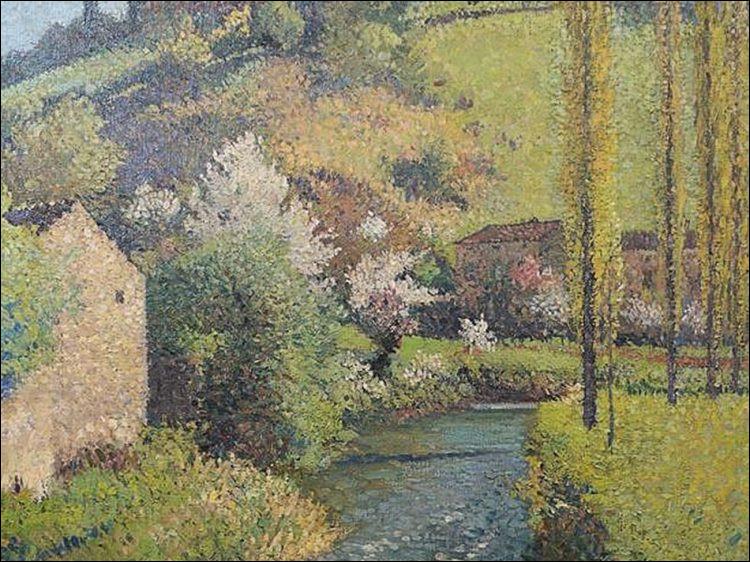 Ce tableau représentant un ruisseau a été préempté par le musée de Batz-sur-Mer. Qui en est l'auteur ?