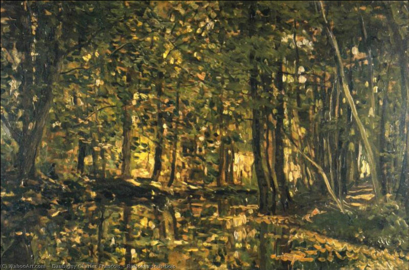 """Qui a peint ce """"Ruisseau en sous-bois"""" ?"""