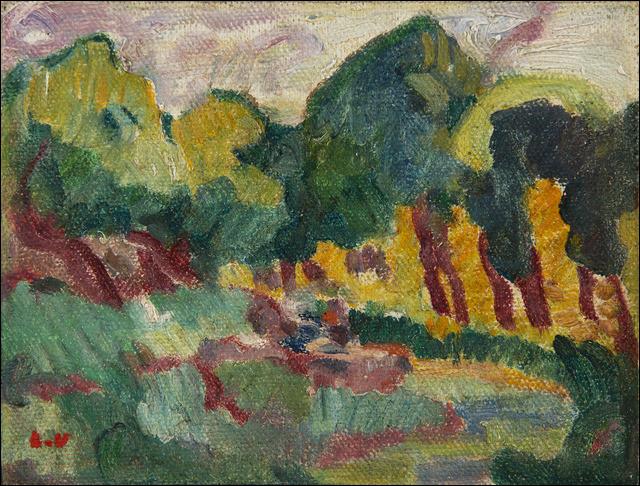 "Sa toile se nomme ""Le Ruisseau"" :"