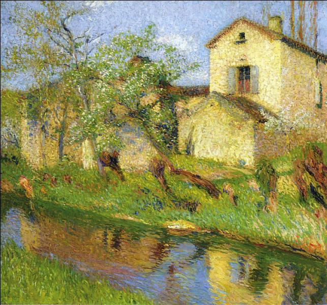 """Qui est l'artiste ayant représenté cette """"Maison au bord d'un ruisseau"""" ?"""