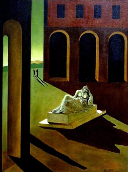 """""""La Solitude"""" encore pour le titre de ce tableau, signé :"""