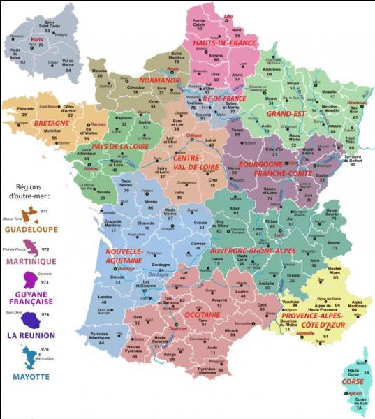 Combien la France métropolitaine + DOM-TOM a-t-elle de départements ?
