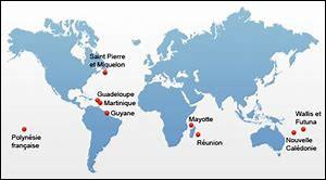 L'Outre-mer compte 5 régions. Combien compte-t-elle de départements ?