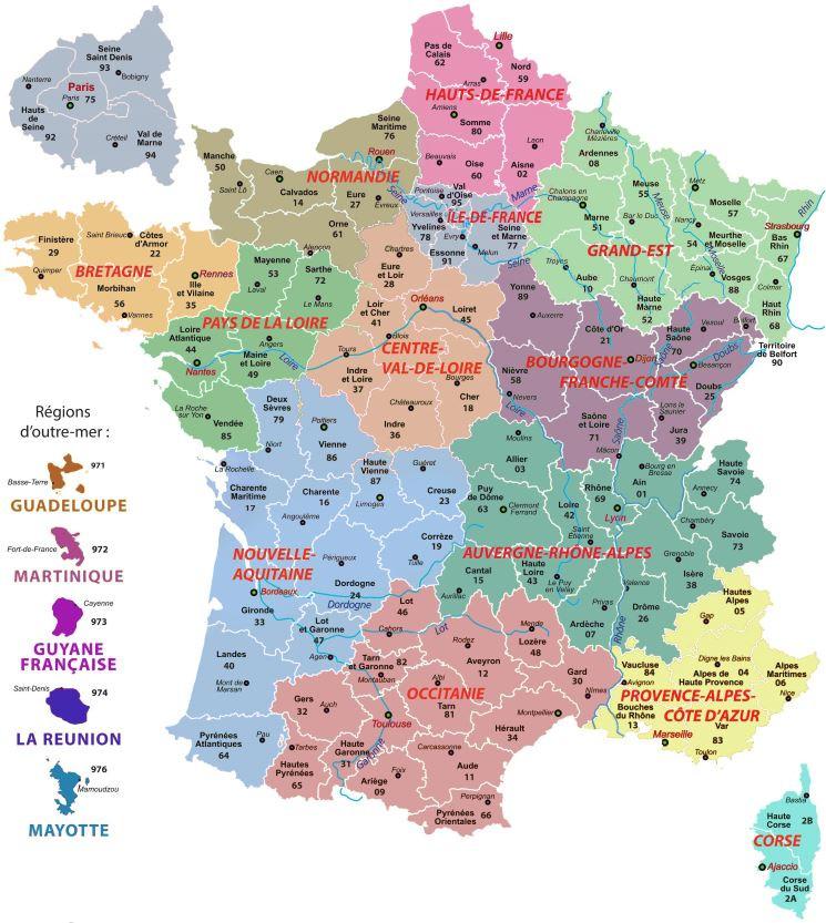 La géo en questions. Chap 3 : les départements de France