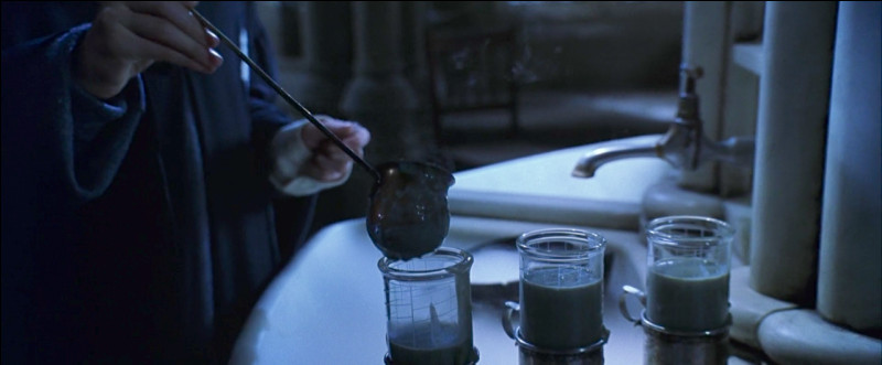 Quand Harry Potter, Ron Weasley et Hermione Granger prennent du polynectar, lequel des 3 est le premier à aller vomir ?