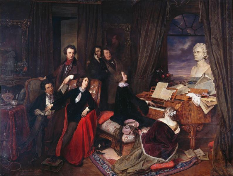 """Avec quel compositeur hongrois, George Sand disait-elle qu'elle entretenait un """"juste milieu entre l'amour et l'amitié"""" ?"""