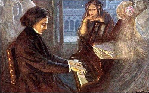 Quel pianiste franco-polonais était le conjoint de George Sand pendant 9 ans ?