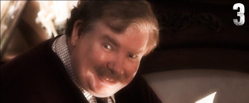 """Si Harry était Cendrillon, Vernon serait """"Lady Trémaine"""" la marâtre. Il ne cesse d'haïr Harry parce qu'il existe, et pourtant Dursley souhaite que Potter reste chez lui :"""