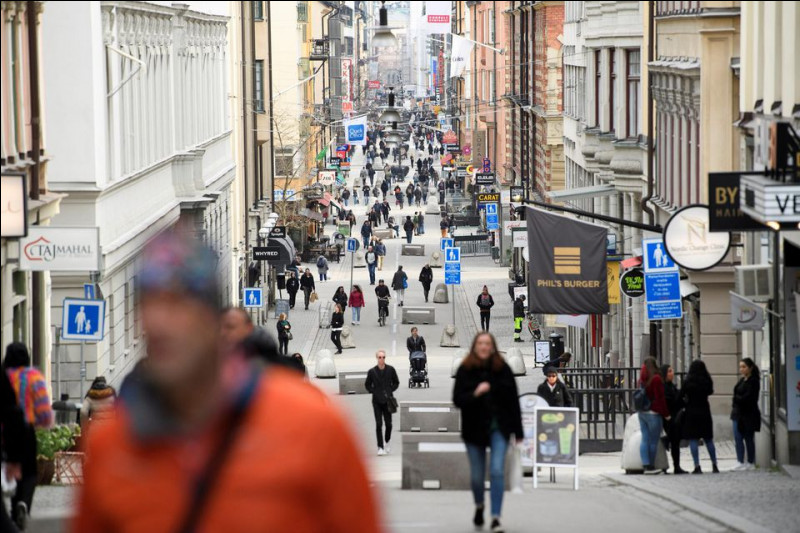 La Suède n'applique pas le confinement.