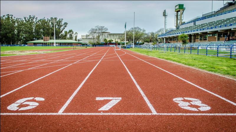 Quelle est la largeur d'un couloir d'athlétisme