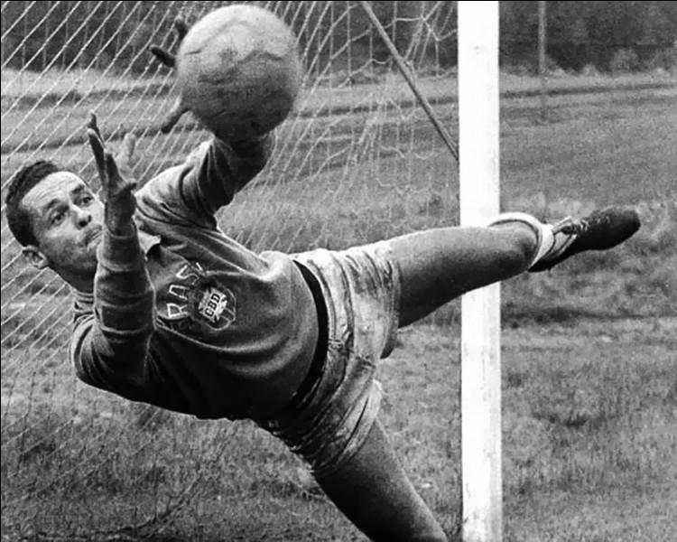 Reconnu pour n'avoir encaissé que 100 buts lors de ses 96 sélections, quel champion du monde 1958 est considéré comme le meilleur gardien brésilien de tous les temps ?