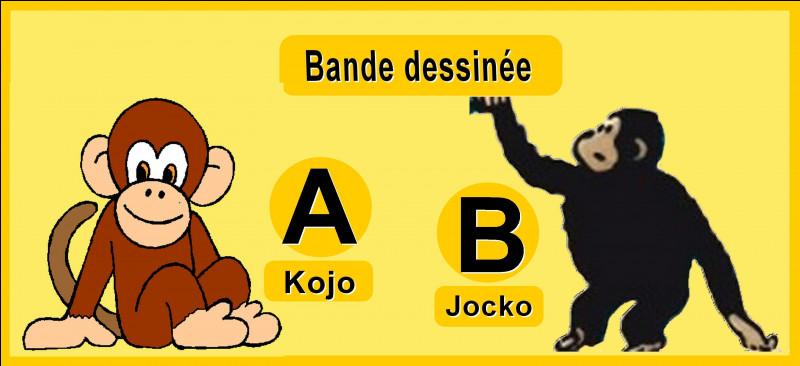 Comment s'appelle le singe de Jo et Zette, dans la bande dessinée signée Hergé ?