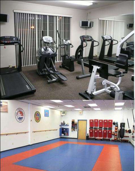 Elles ont la possibilité de faire du sport dans ces deux salles. Comment s'appelle cette pratique en scolaire, principalement aux collèges et aux lycées ?