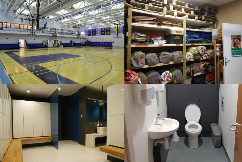 Ce gymnase fait office de salle des fêtes, de réception mais peut aussi être transformé en espace d'hébergement avec une capacité de 80 lits ! Dans quel cas particulier est activé un centre d'hébergement ?