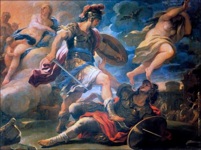 Héros troyen, vénéré par les Romains, comme le fondateur de leur race. Qui est-il ?
