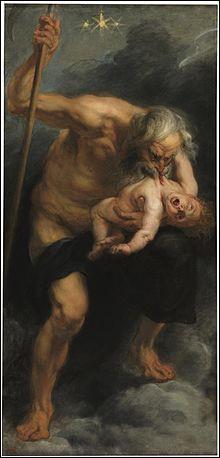 De qui Cronos, dieu grec cannibale roi des Titans, est-il le père ?