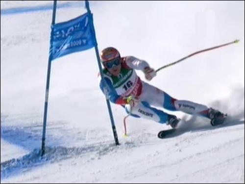 Créée en 1982, c'est la plus jeune discipline de ski alpin. Elle consiste en une longue descente avec slalom, comprenant généralement deux sauts. Il s'agit du :