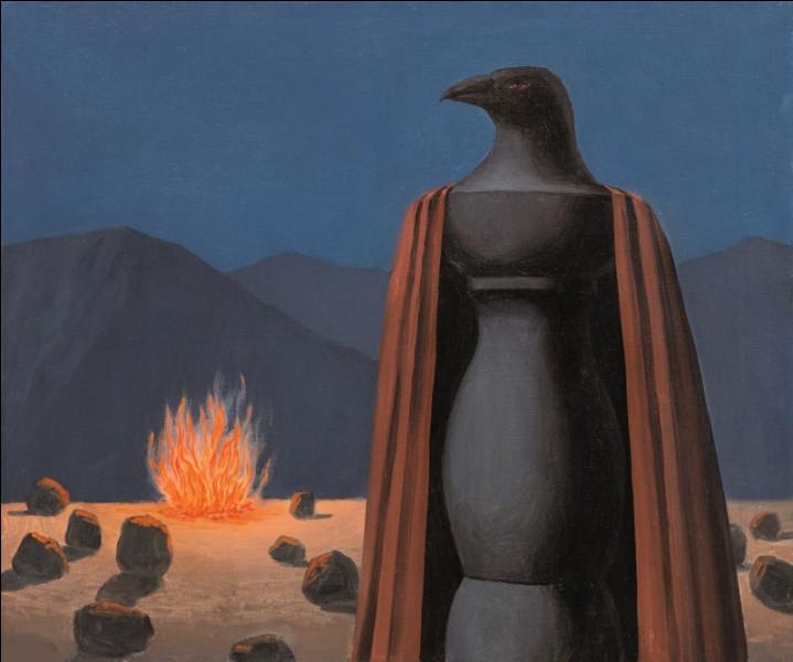 """Ce corbeau représente """"Le Temps jadis"""". Qui en est l'artiste ?"""