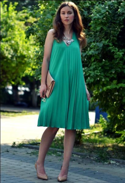 Je m'habille tous le temps en vert...