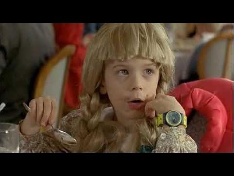 Complétez cette réplique entre Juliette et Didier au restaurant : Juliette : Papa c'est quoi un ... ?Didier : Chut, chut mange ton clafoutis !Juliette : Papa c'est quoi un ... ?Didier : Un ... c'est quelqu'un qui raconte des bobards, qui dit pas la vérité qui ment !