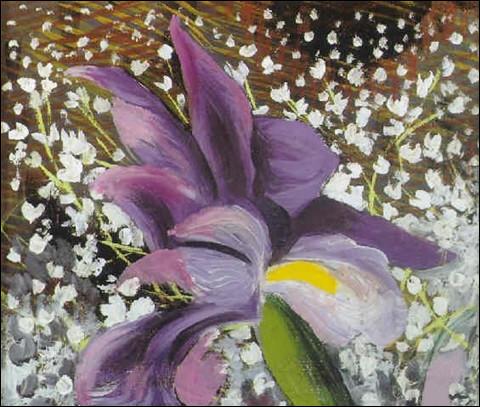 """Qui a peint le tableau intitulé """"Iris et muguet"""" ?"""