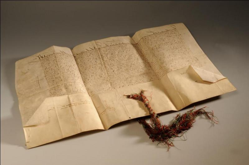 Qu'institue Philippe le Beau en 1497, d'après la charte présentée à la MPMM ?