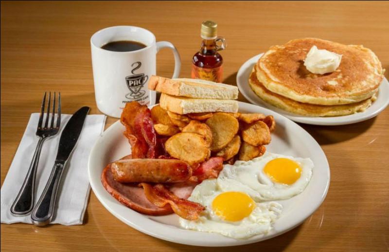 "Traduit ""petit-déjeuner"" en anglais :"